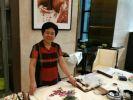 河北女画家潘丽君,纸上葡萄鲜翠欲滴