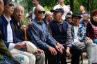 南充晴儿公益协会一行到高坪区清溪养老院看望慰问老人活动